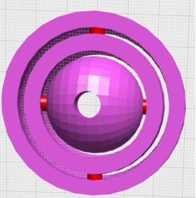 带眼球的环中环陀螺仪